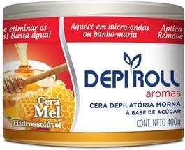 Cera Depilatória Hidrossolúvel Morna Depi Roll 400 gr Mel