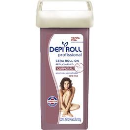 Cera Depilatória Roll On Depiroll Rosa Tampa Fixa Refil 100g