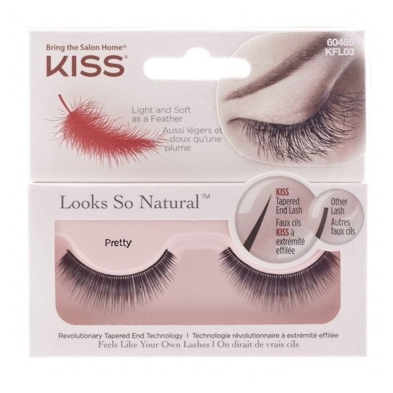 Cílios Postiços Kiss New York Looks So Natural Pretty KFL03BR