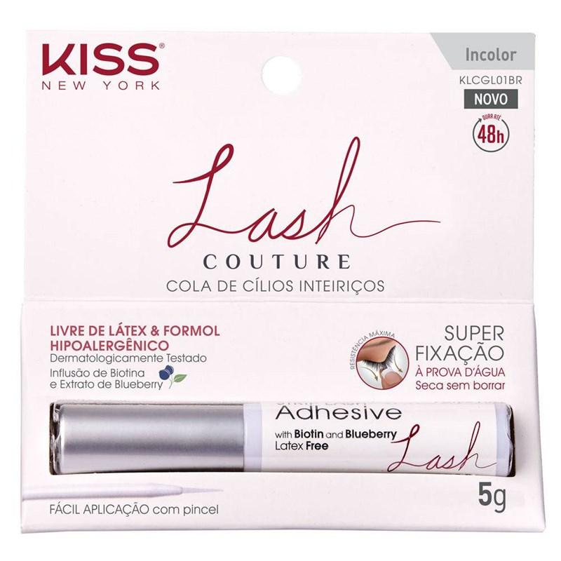Cola para Cílios Postiços Kiss New York 5 gr Lash Culture Incolor