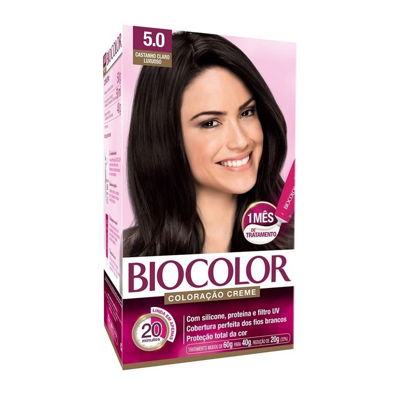 Colorac?o Biocolor Creme Kit Castanho Claro 5.0