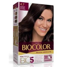 Colorac?o Biocolor Creme Kit Marrom Escuro 4.7
