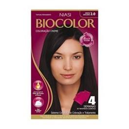 Colorac?o Biocolor Creme Kit Preto azulado 2.0