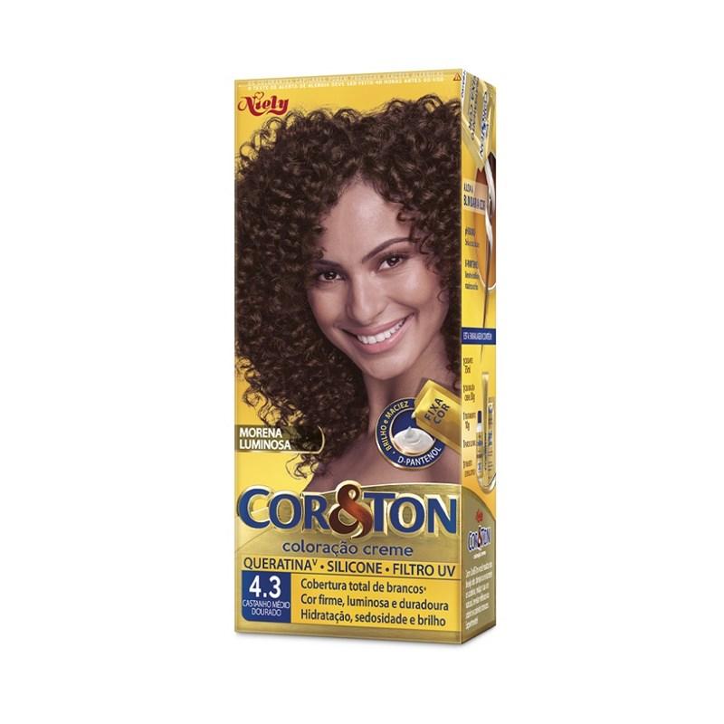 Colorac?o Cor & Ton 4.3 Castanho Medio Dourado