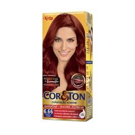 Colorac?o Cor & Ton 6.66 louro Escuro Vermelho