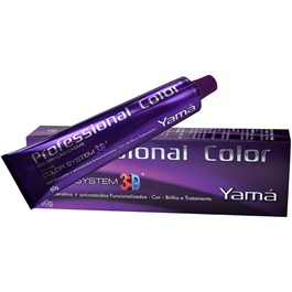 Colorac?o Yama Profissional Color System 3D 60 g Louro Medio Vermelho 7.66