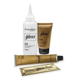 Coloração Acquaflora Hidra Gloss Louro Natural Acobreado Dourado 7.43