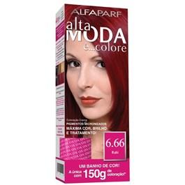 Coloração Alta Moda é... Colore 150 gr Louro Escuro Vermelho 6.66 Rubi