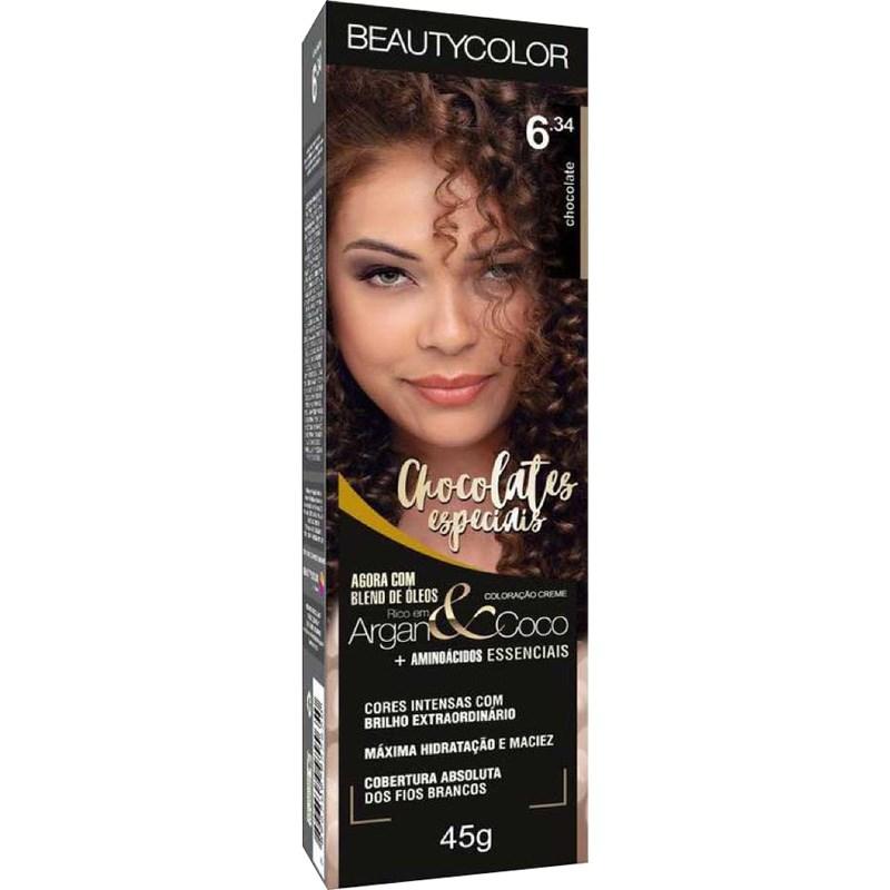Coloração Beauty Color 6.34 Chocolate