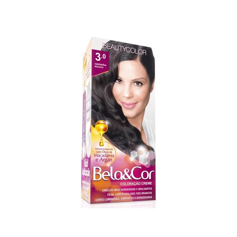 Coloração Beauty Color Bela&Cor Castanho Escuro 3.0