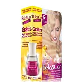 Coloracão Beauty Color Bela&Cor Louro Muito Claro Acinzentado 12.1