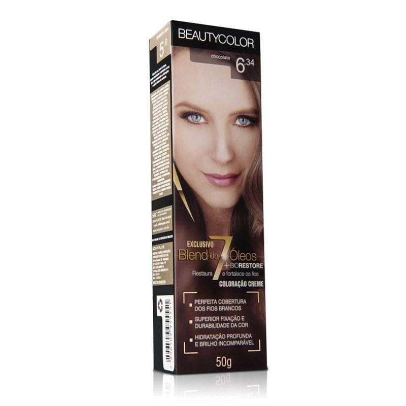Coloração Beauty Color Individual 50 gr Chocolate 6.34