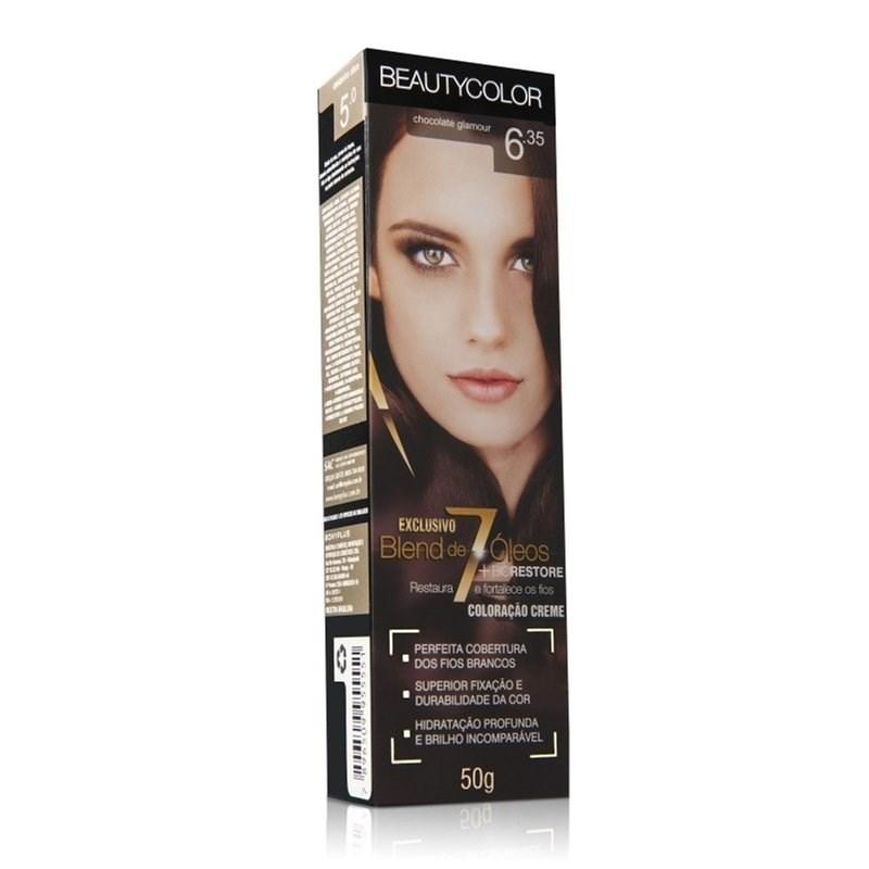 Coloração Beauty Color Individual 50 gr Chocolate Glamour 6.35