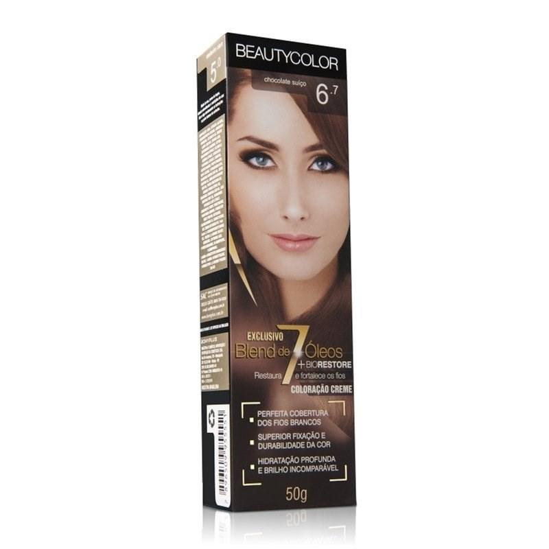 Coloração Beauty Color Individual 50 gr Chocolate Suico 6.7
