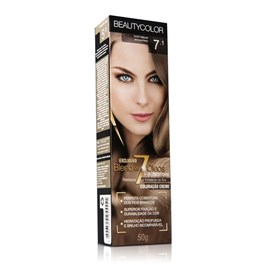 Coloração Beauty Color Individual 50 gr Louro Natural Acinzentado 7.1