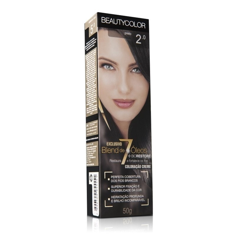 Coloração Beauty Color Individual 50 gr Preto 2.0