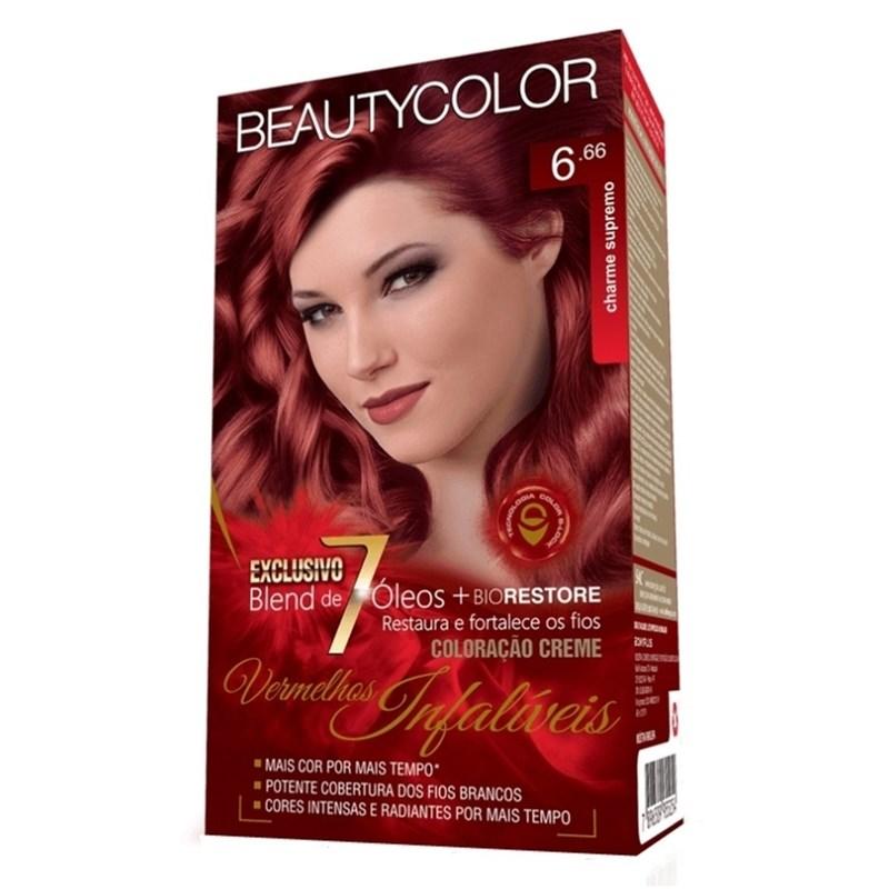 Coloração Beauty Color Vermelho Intenso 6.66