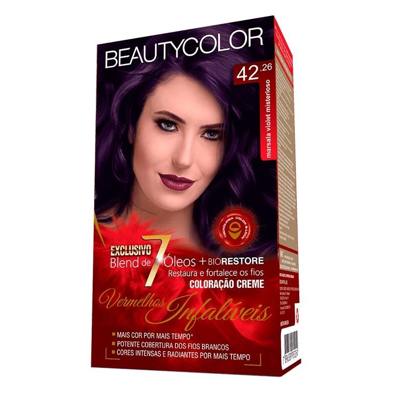 Coloração Beauty Color Vermelhos Infalíveis Marsala Violet Misterioso 42.26