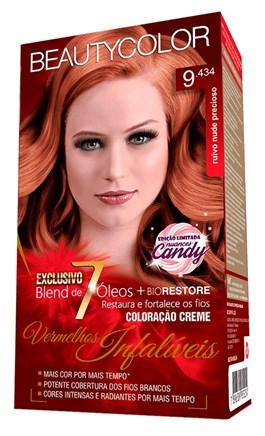 Coloração Beauty Color Vermelhos Infalíveis Ruivo Nude Precioso 9.434