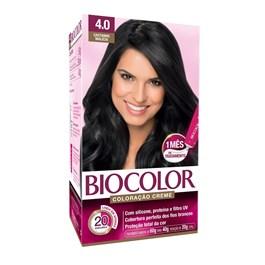 Coloração Biocolor Creme Kit Castanho Médio 4.0