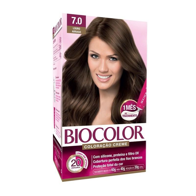 Coloração Biocolor Creme Kit Louro Médio 7.0
