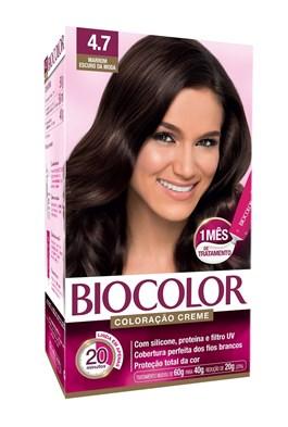 Coloração Biocolor Creme Kit Marrom Escuro 4.7