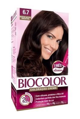 Coloração Biocolor Creme Kit Marrom Natural 6.7