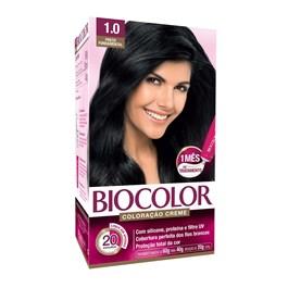 Coloração Biocolor Creme Kit Preto 1.0