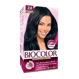 Coloração Biocolor Creme Kit Preto azulado 2.0