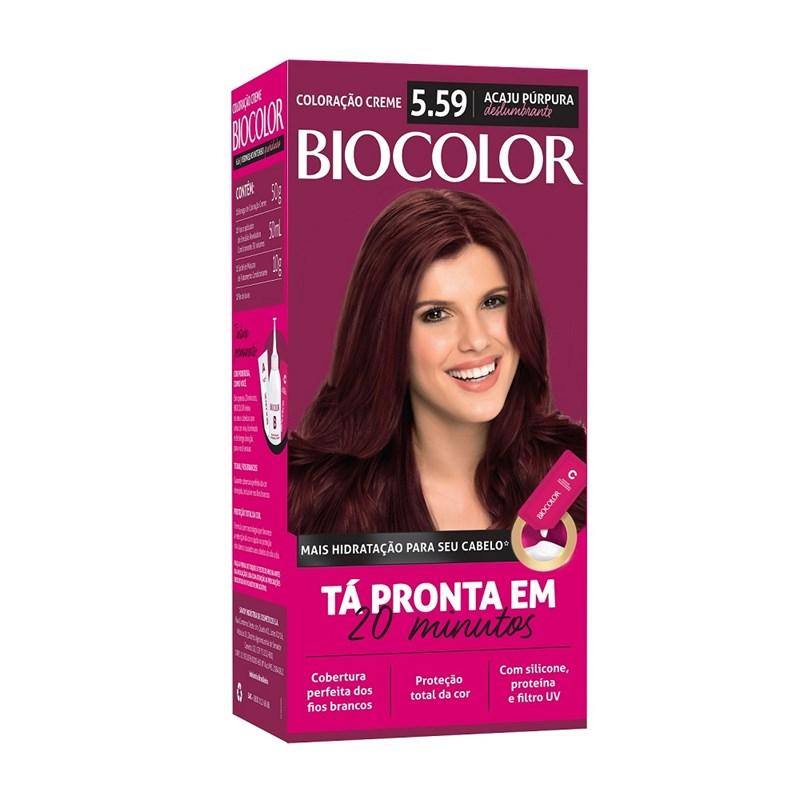 Coloração Biocolor Mini Kit Acaju Púrpura Deslumbrante 5.59