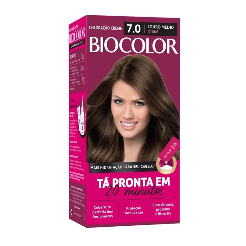 Coloração Biocolor Mini Kit Louro Arraso 7.0