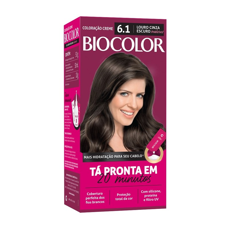 Coloração Biocolor Mini Kit Louro Cinza Moderno 6.1