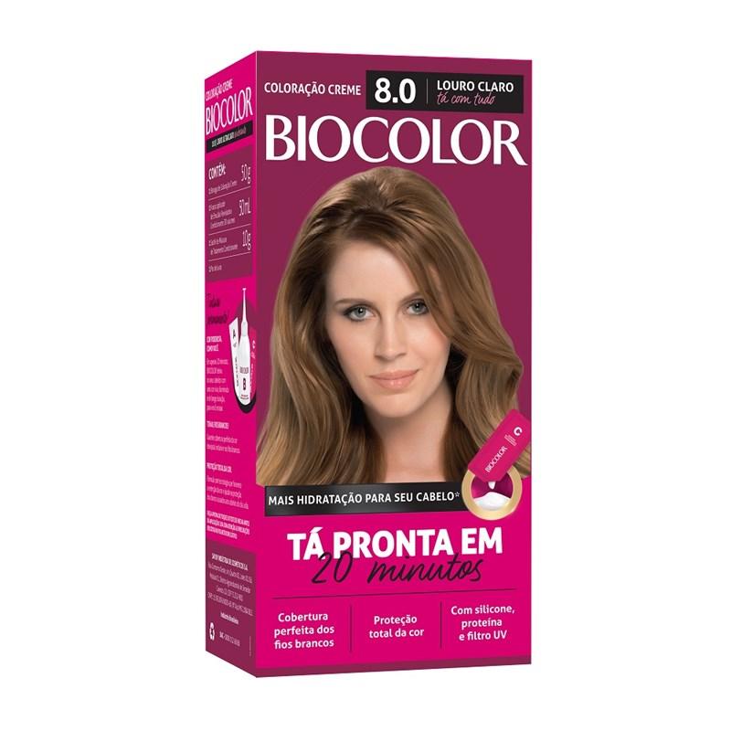 Coloração Biocolor Mini Kit Louro Claro Radiante 8.0