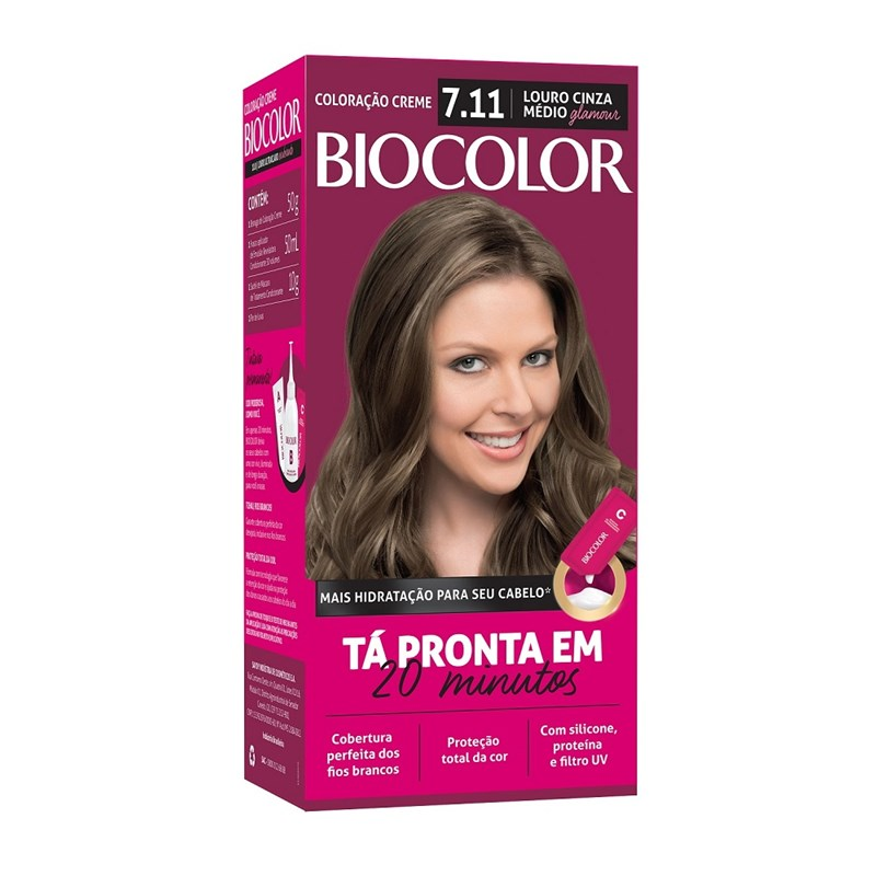 Coloração Biocolor Mini Kit Louro Glamour 7.11