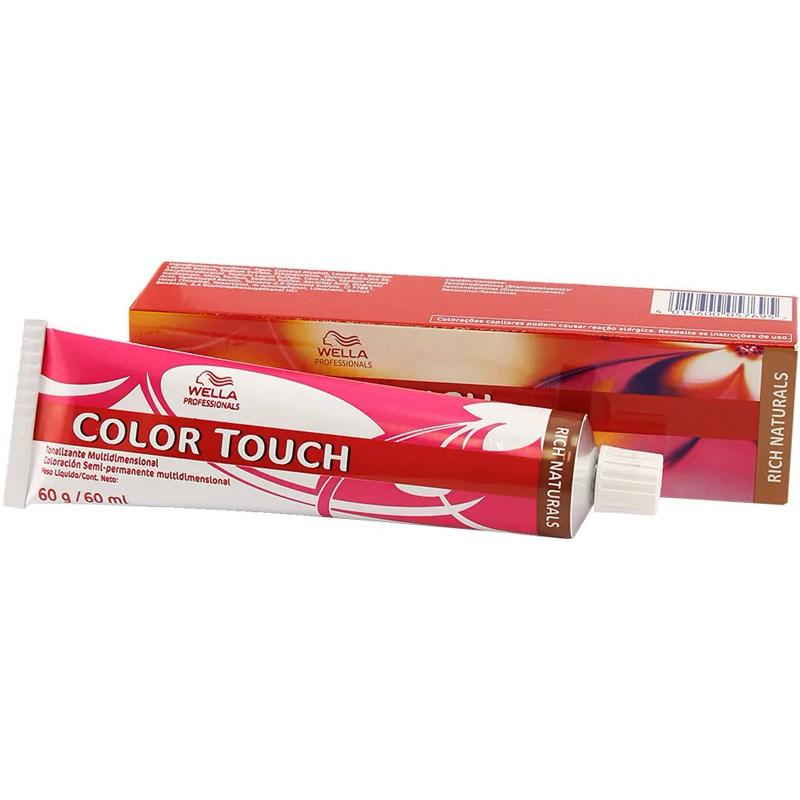 Tonalizante Wella Color Touch 60 gr Louro Médio Cendré Marrom 7.97