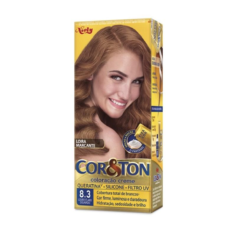 Coloração Cor & Ton Louro Claro Dourado 8.3
