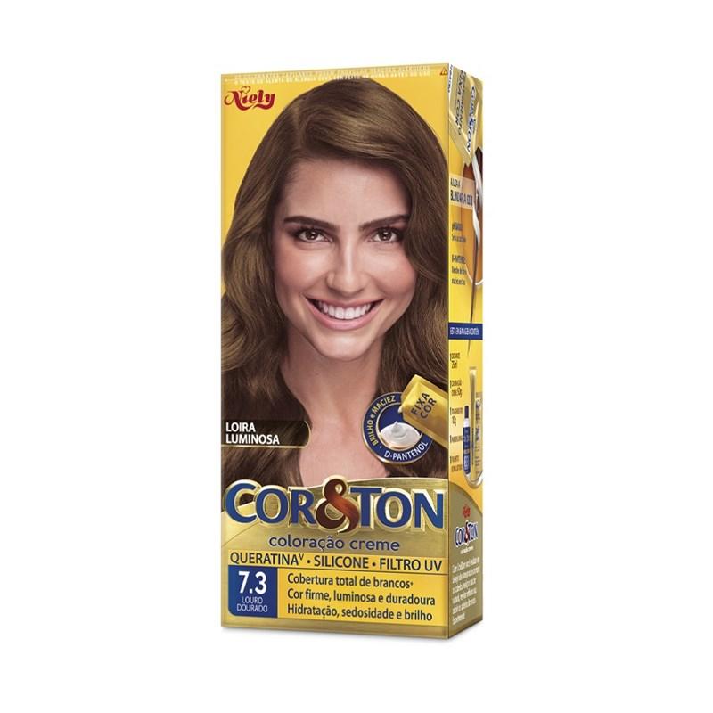 Coloração Cor & Ton Louro Dourado 7.3