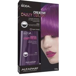 Coloração Creative Crazy Colors Alta Moda 120 gr Dark Violet