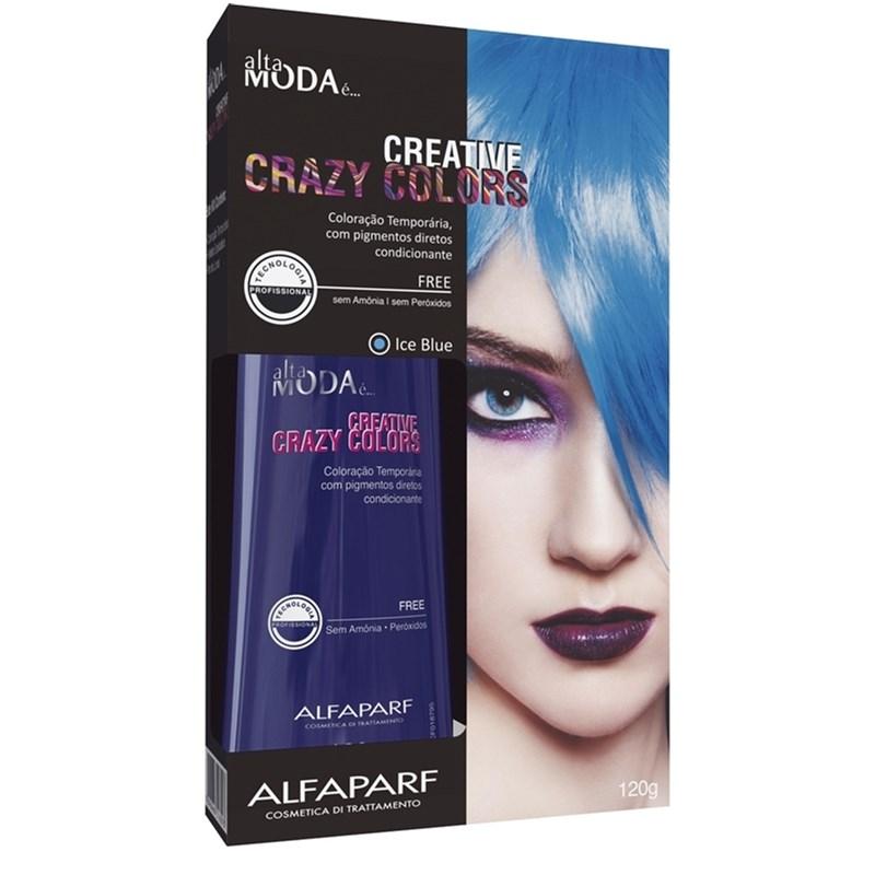 Coloração Creative Crazy Colors Alta Moda 120 gr Ice Blue
