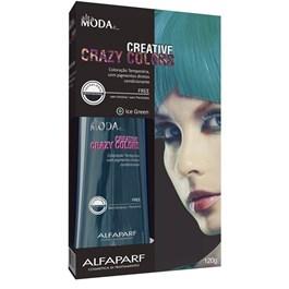 Coloração Creative Crazy Colors Alta Moda 120 gr Ice Green