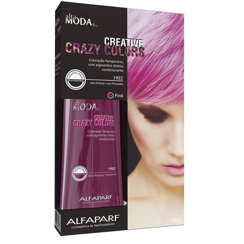 Coloração Creative Crazy Colors Alta Moda 120 gr Pink