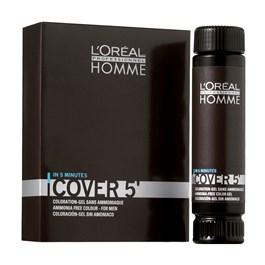 Coloração em Gel L'oréal Professionnel Homme Cover 5' Castanho Escuro 3