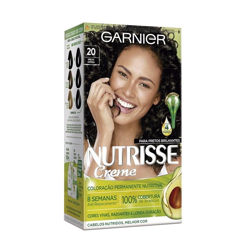 Coloração Garnier Nutrisse Creme Preto Amora 20