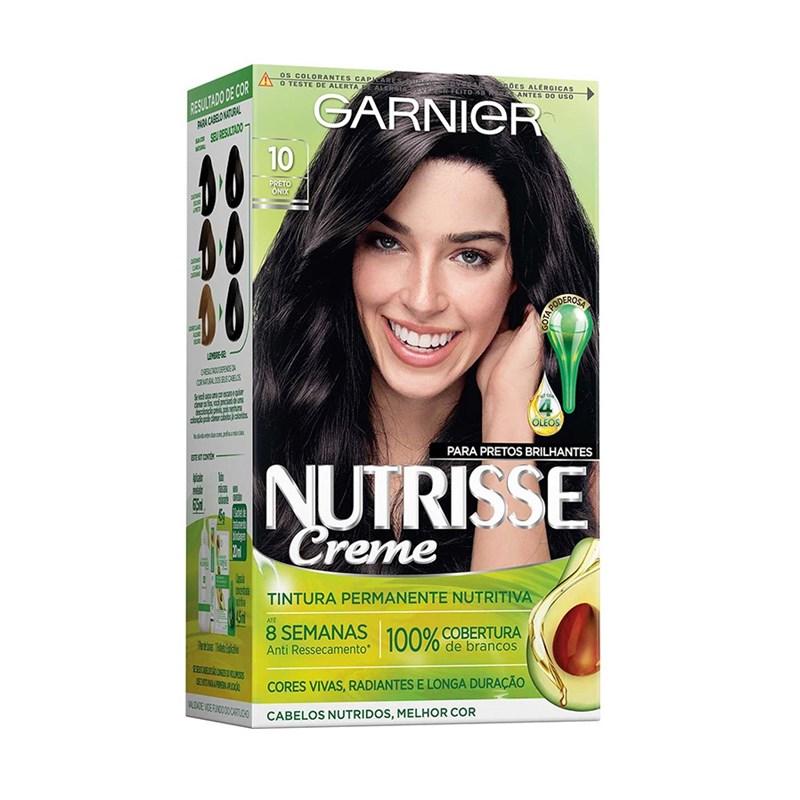 Coloração Garnier Nutrisse Creme Preto Onix 10