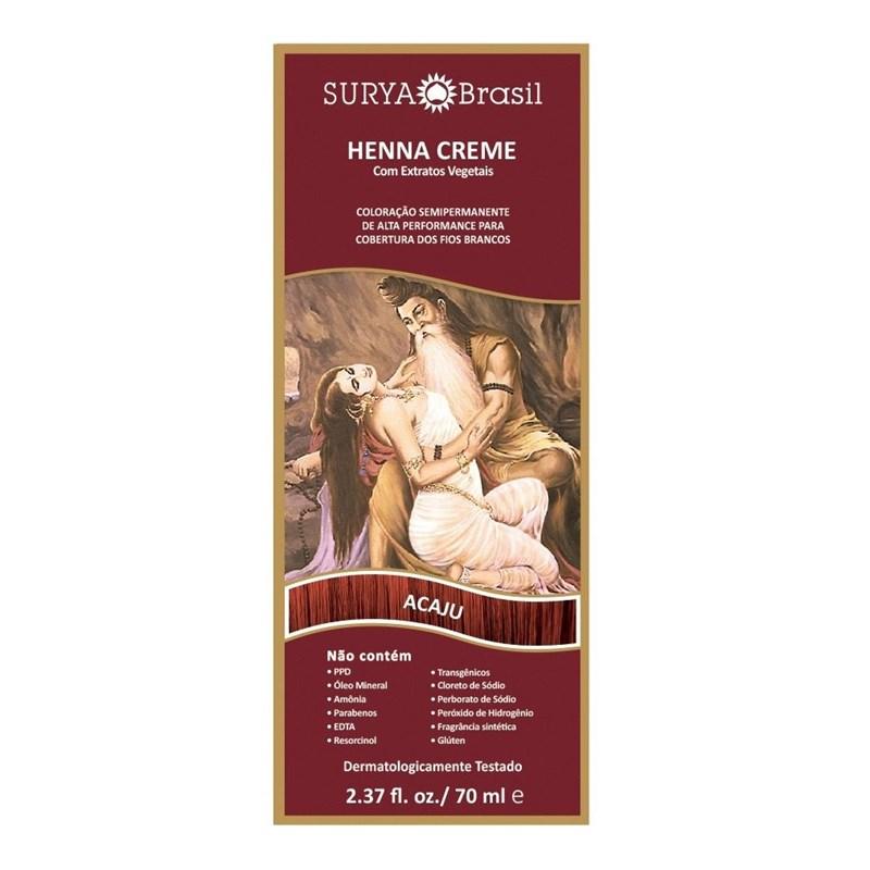 Coloração Henna Creme Surya 70 ml Acaju