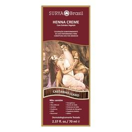 Coloração Henna Creme Surya 70 ml Castanho Claro