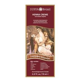 Coloração Henna Creme Surya 70 ml Castanho Dourado