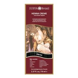 Coloração Henna Creme Surya 70 ml Preto