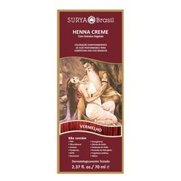 Coloração Henna Creme Surya 70 ml Vermelho