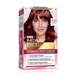 Coloração Imédia Excellence Vermelho Intenso 6.66